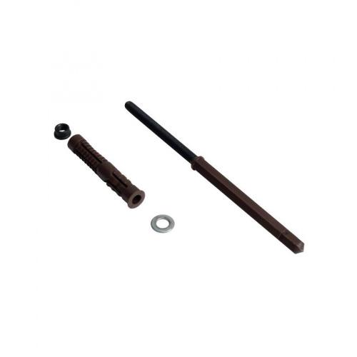 Менсолодержатель скрытый, L=100мм, d=10мм, отделка коричневая