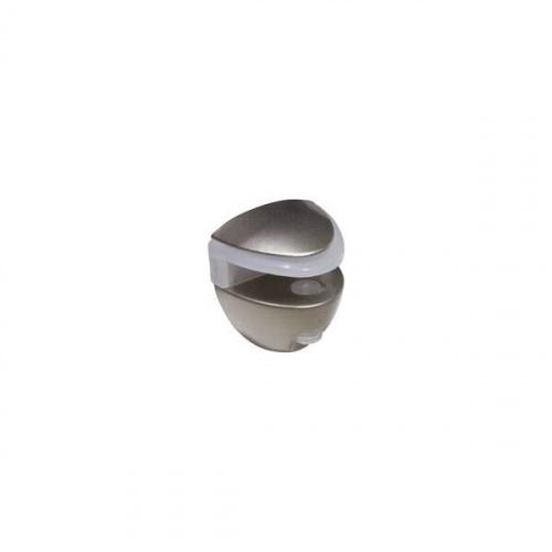 Полкодержатель для стекла 5-8мм, отделка никель матовый